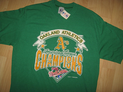 Oakland A's Vintage 1988 Champions Tee - Large