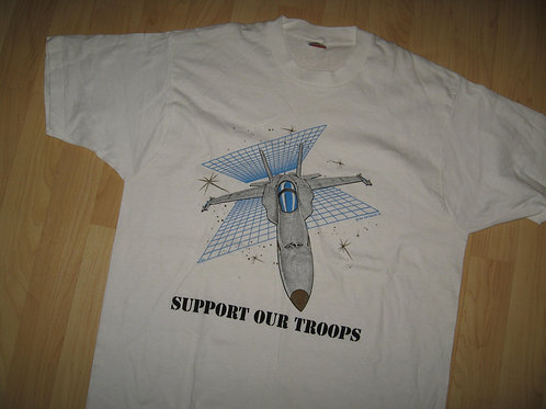 USN Navy Jet 1988 Support Our Troops Tee - XL