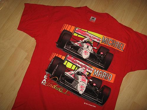 Mario Michael Andretti 1980's Racing Tee - Large
