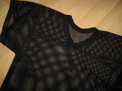 Black Mesh Cropped Scrimmage Jersey - Large
