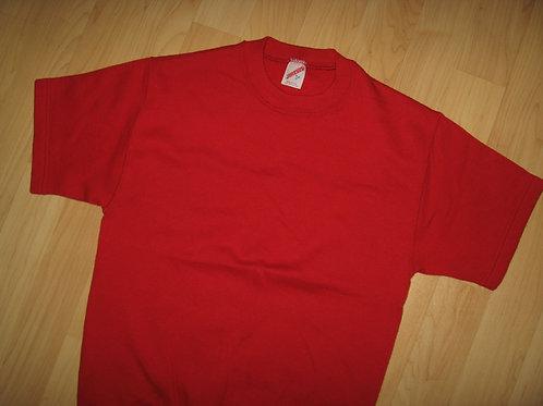Short Sleeve 1970's Red Gym Sweatshirt - Small
