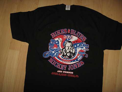 Mickey Jones 2005 Bikes & Blues Tee - Large