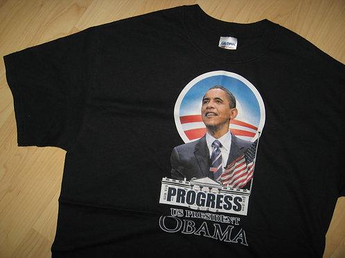 Barack Obama USA President Progress Tee - Medium