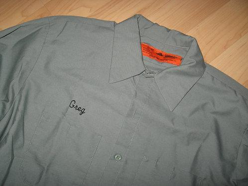 """Red Kap """"Greg"""" Mechanic Garage Work Shirt - Large"""