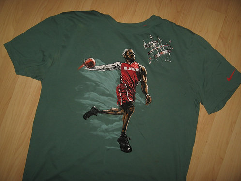 LeBron James Nike Tee (With Stain) - Large