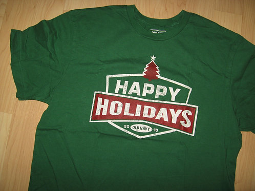 Old Navy 2010 Happy Holidays Christmas Tee - Large