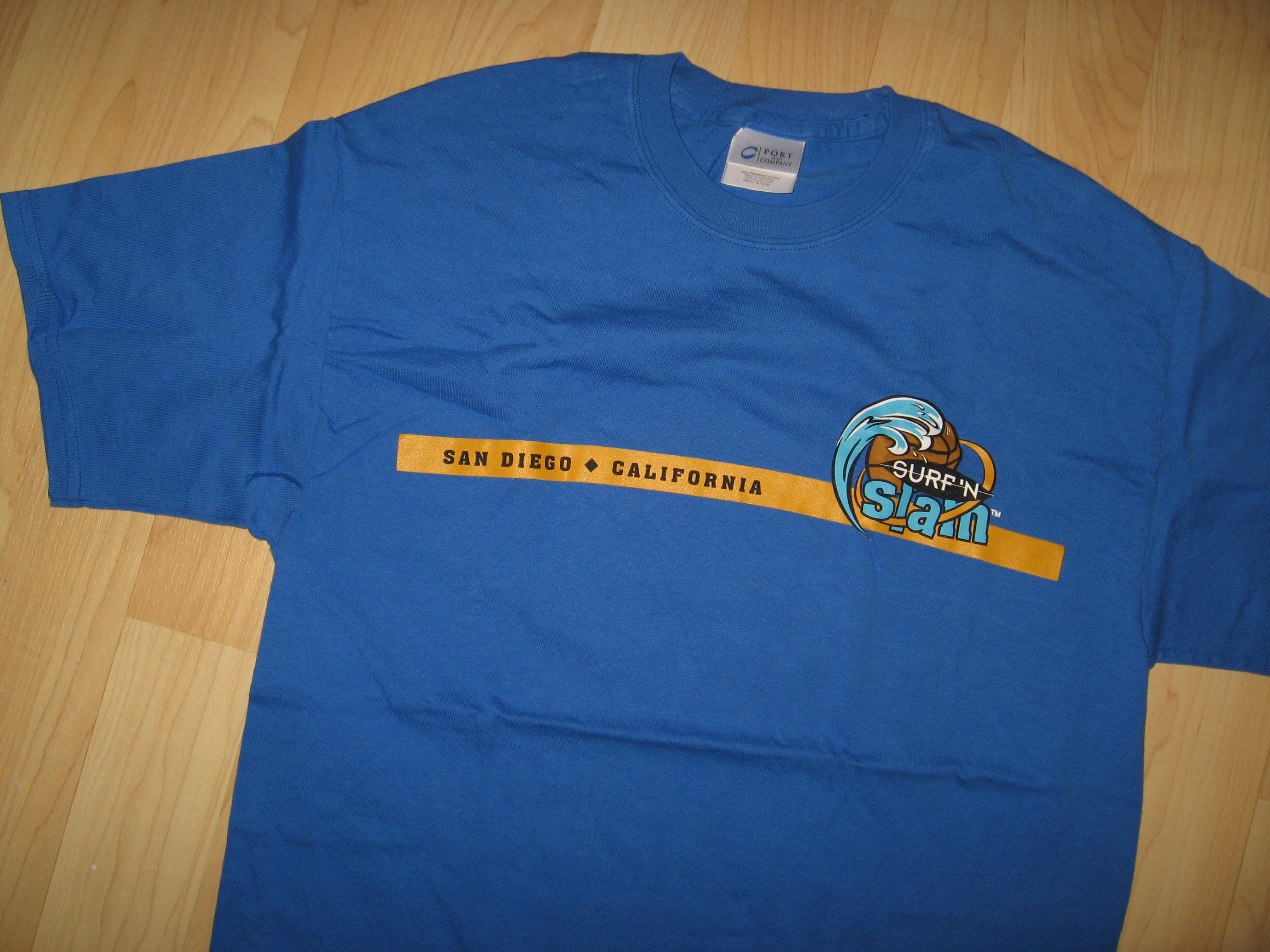 San Diego Surf 'N Slam Basketball Tee - Medium