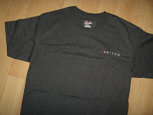 United Airlines Tulip Logo Embroidered Tee - Small