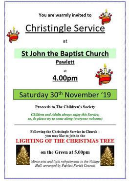 Christingle Service and Lighting of the Christmas Tree