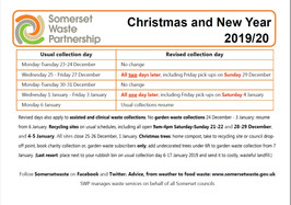 Waste Collection Info-Christmas 2019