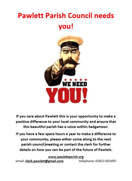 Pawlett Parish Council needs You!