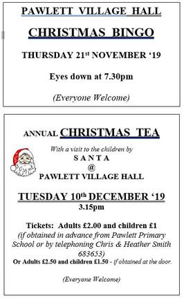 Village Hall Christmas Events