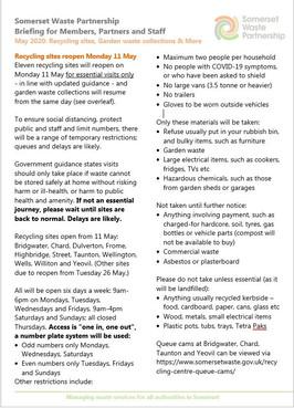 Somerset Waste Partnership - Updates
