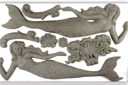 IOD SEA SISTERS mermaids 6×10 DECOR MOULDS / Molds Iron Orchid Designs