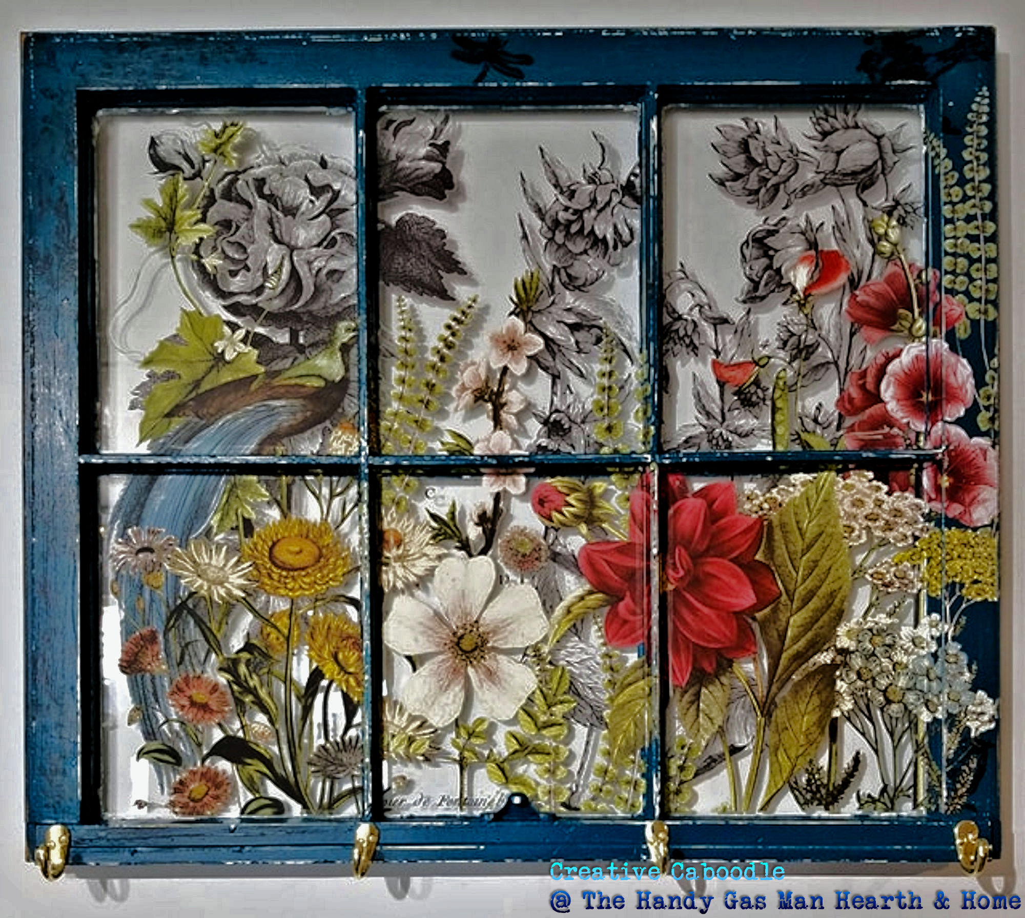 Window midnight garden IOD transfer deep