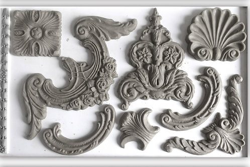 IOD CLASSIC ELEMENTS 6×10 DECOR DECOR MOULDS / Molds Iron Orchid Designs carvings