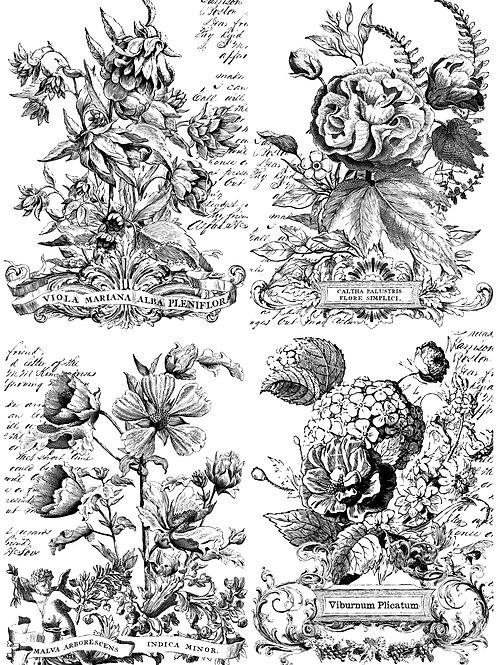 IOD CLASSIC BOUQUETS 24×33 PAINTABLE DECOR TRANSFER iron orchid designs creative caboodle at the handy gas man hearth & home