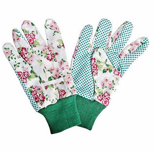Rose Print Gardening Gloves