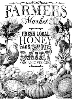 IOD DT Farmer's Market 24x33 Paintable T
