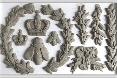 IOD LAUREL 6×10 DECOR DECOR MOULDS / Molds Iron Orchid Designs queen bee crowns