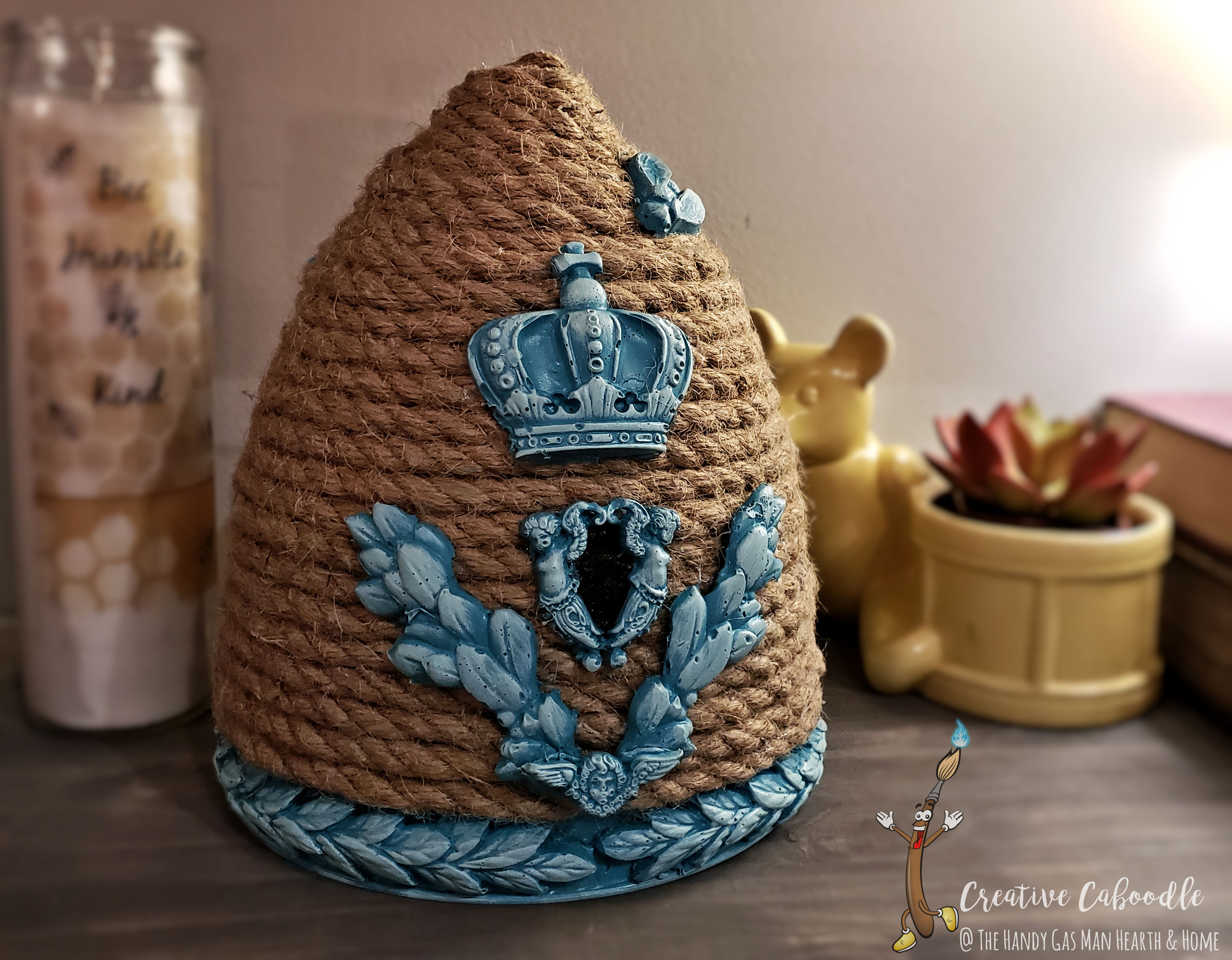creative caboodle decorative bee skep hi