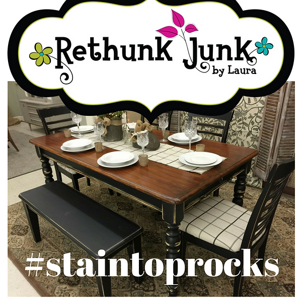 Rethunk Junk stain top rocks