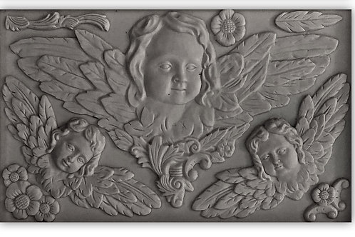 IOD  CLASSICAL CHERUBS 6×10 DECOR MOULDS / Molds Iron Orchid Designs angels