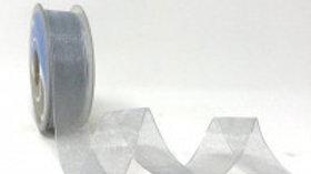 Safisa Sheer Organza Ribbon 25mm Silver