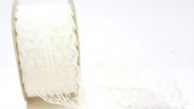Bertie's Bows Doublesided Lace 45mm Antique White