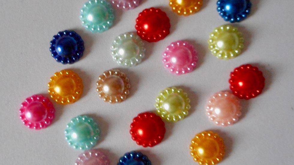 Multi Colour Half Pearl Flower