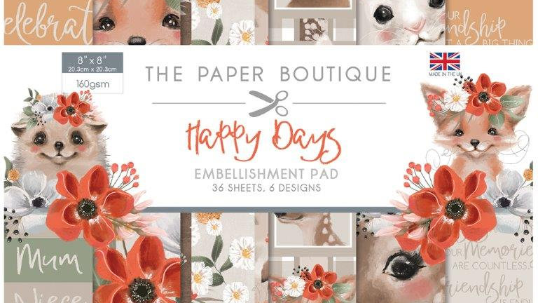 The Paper Boutique Happy Days Embellishment Pad
