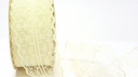 Berties's Bows Doublesided Lace 45mm Ivory
