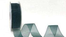Safisa Sheer Organza Ribbon 25mm Bottle Green
