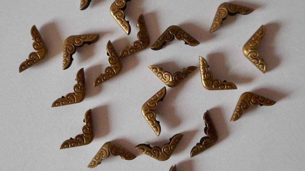 Bronze metal book corner protectors