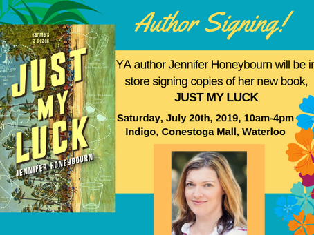JUST MY LUCK Signing - Sat, July 20th, 2019