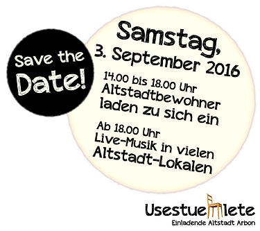 USESTUEHLETE ARBON 2016 - SAVE THE DATE!