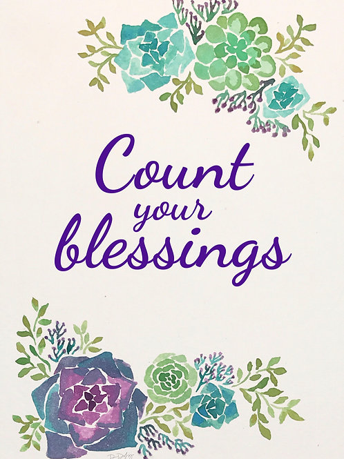 Count your blessings print