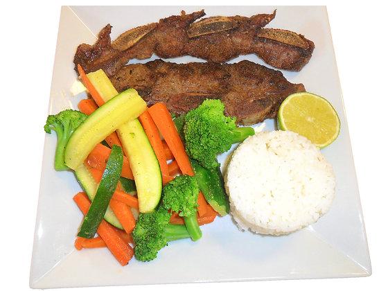 Costilla and Vegetables