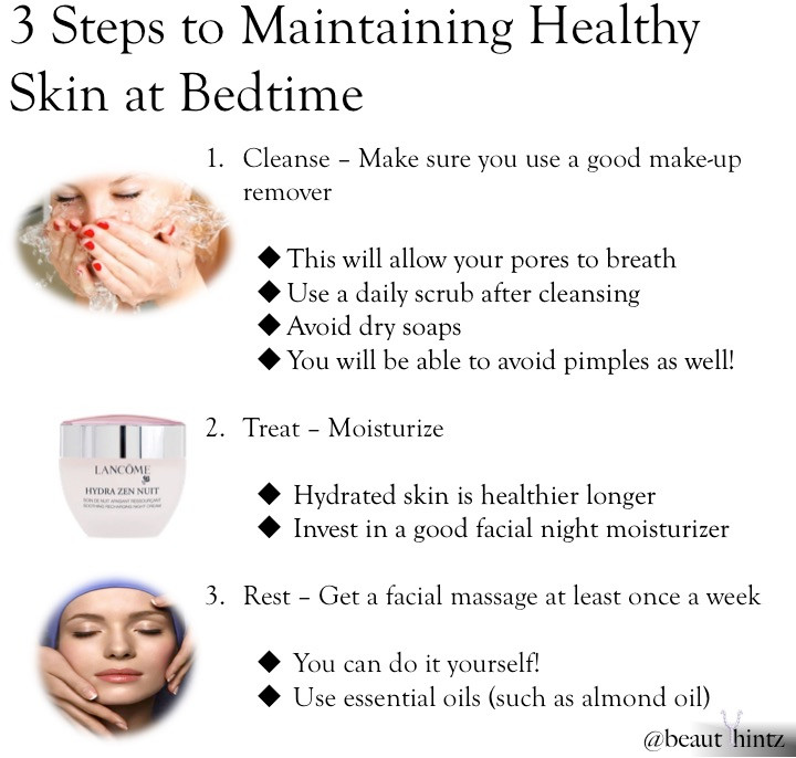 3 Bedtime Steps to Maintain Healthy Skin