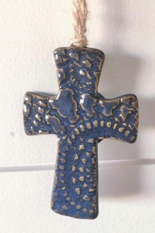 Midnight Blue Ceramic Cross