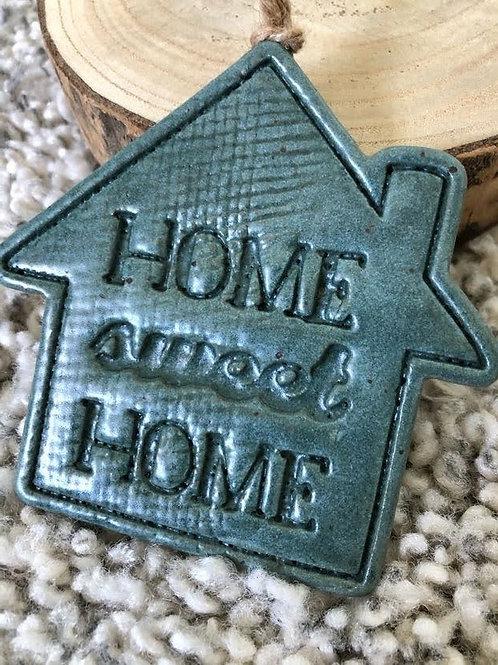 Satin Blue Home Sweet Home Wallhanger