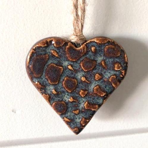 Iron Lustre Ceramic Heart