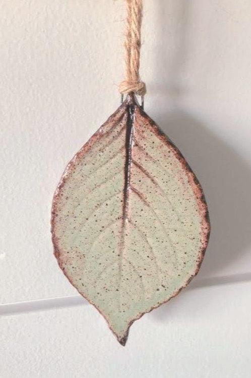 Mint Green Ceramic Leaf