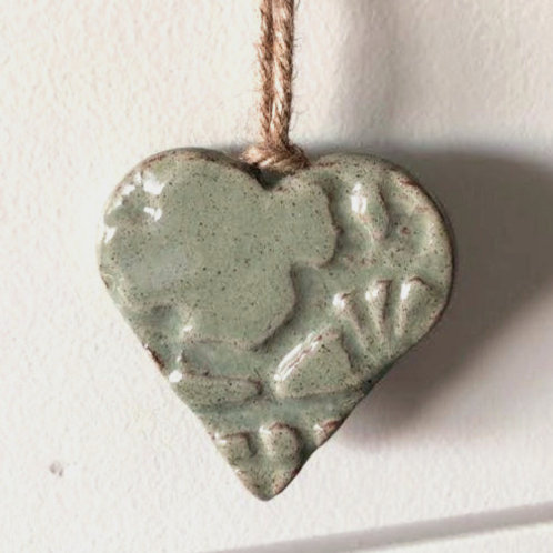 Mint Green Ceramic Heart
