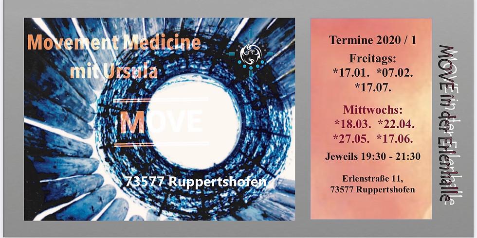 Movementmedicine Abend in Ruppertshofen - Mittwoch