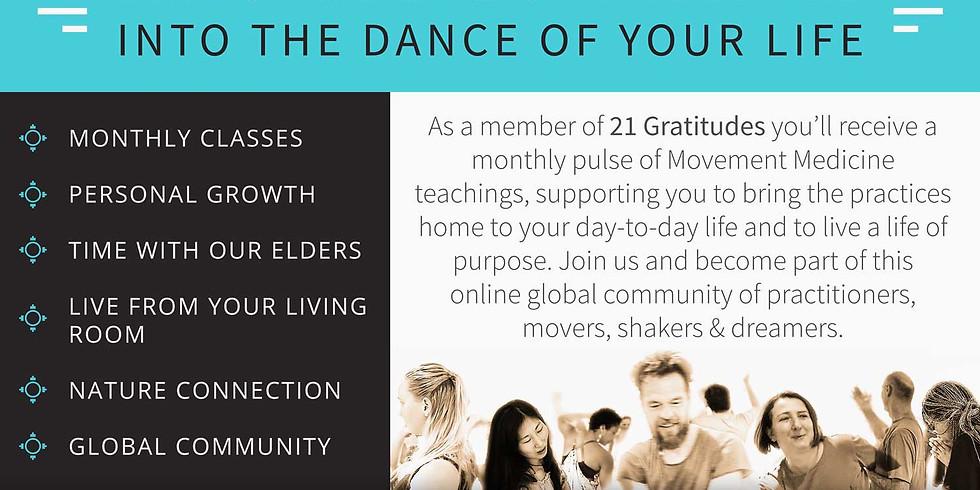 Nur vom 10. - 17.4. registrieren für die 21 gratitudes Life Hub möglich