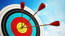 Focus on the target and hit a bullseye