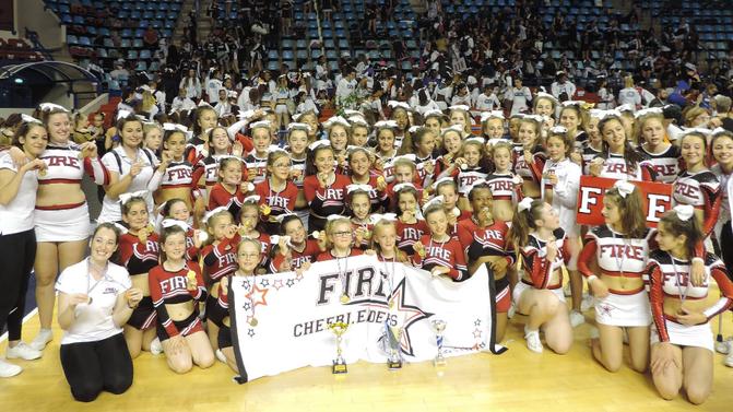 Trois podiums nationaux pour les Fire Cheerleaders