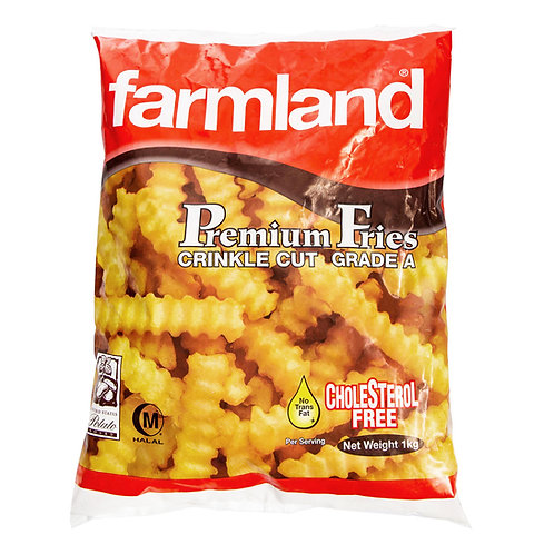 FARMLAND Crinkle Cut Fries (1kg)