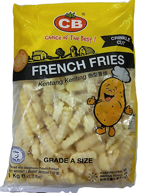 CB French Fries Crinkle Cut 1kg